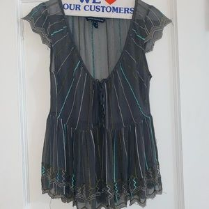 French Connection Sheer Blouse